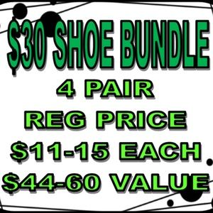 $30 For 4 Pairs of Shoes